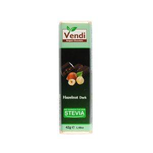 Σοκολάτα Vendi χωρίς ζάχαρη dark-hazelnut 42γρ.